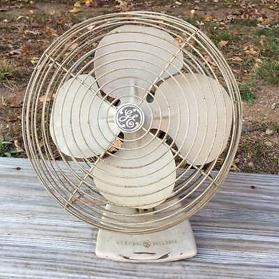 Vintage General Electric Oscillating Fan Cat. Number F11PG10 ~ Works!
