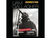Liam Gallagher standing tickets, Knebworth Park Stevenage, Friday 3rd June 2022