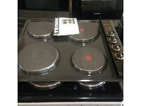 brand new tecnik brown electric hob