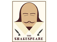 Bar staff required at the Shakespeare in Totterdown