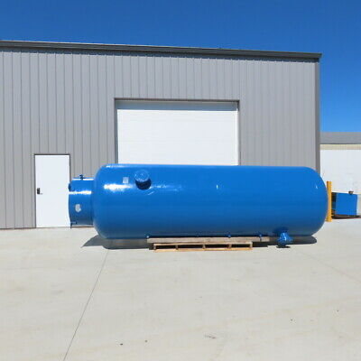 Vertical Compressed Air Receiver Tank 2000 Gallon 150 Psi Wp 6 Flanged Ports