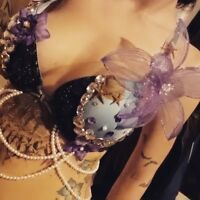 Handcrafted Customized Rave Bras