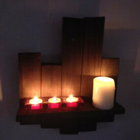 Rustic Candle Shelf