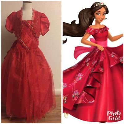 Elena of Avalor Girls Red Dress Halloween Costume - Red Dress Halloween