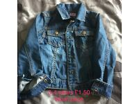Baby clothes and toddler Jean jacket