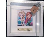 Frozen Inspired Scrabble Frame .....Can be Personalised.