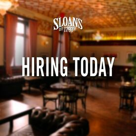 Glasgow's Famous Sloans Bar & Restaurant is looking for a FULL TIME CHEF DE PARTIE