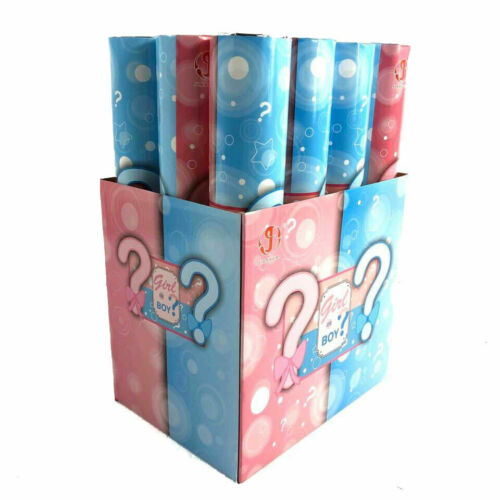 """Gender Reveal Party Popper Twist-to-Shoot Cannon Shooter Blaster Confetti 12"""""""