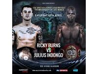 Ricky Burns vs Indongo - Unified Super-Lightweight World Championship SSE Hydro - FRONT ROW of Blk7