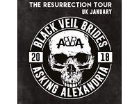 2x asking Alexandria and black veil brides tickets