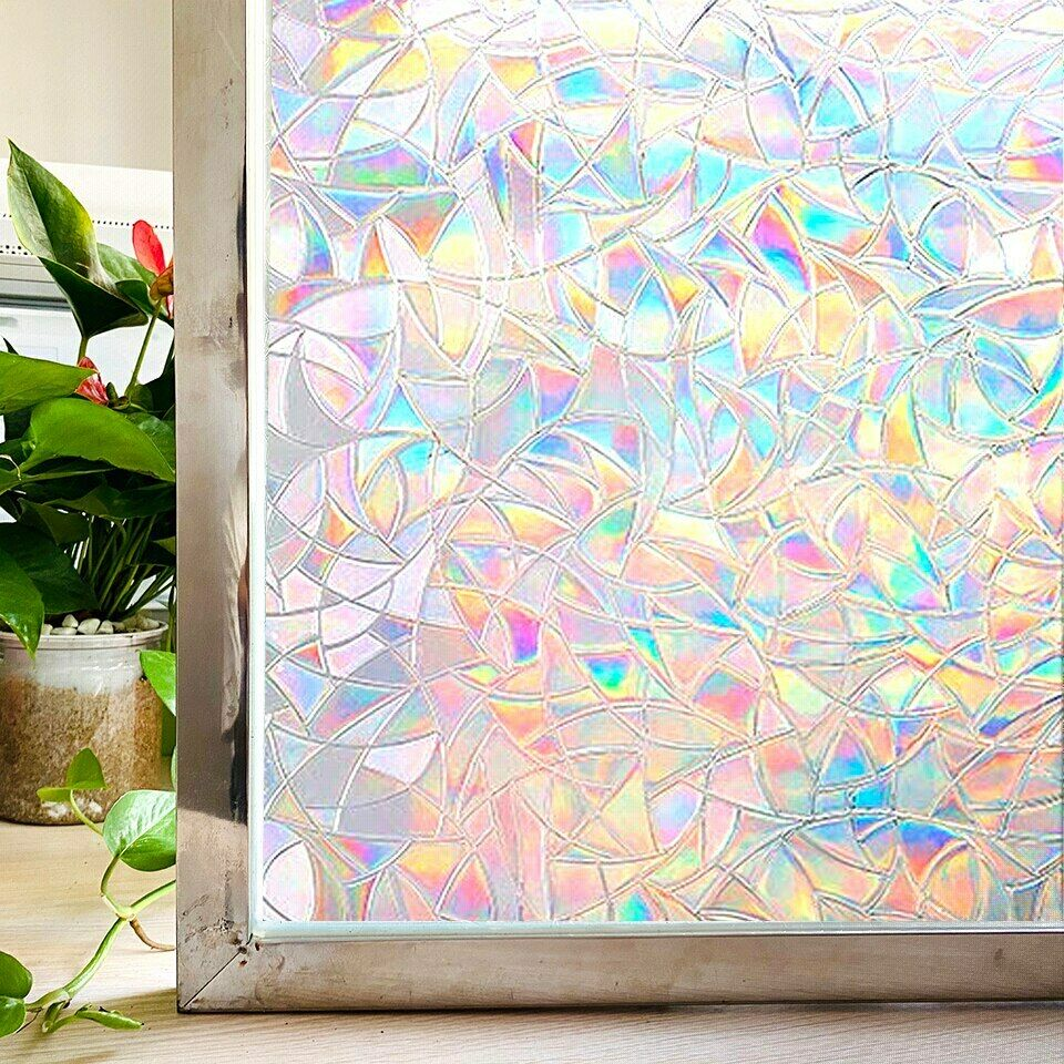 Stained Glass Window Film Static Cling Window Film Privacy f