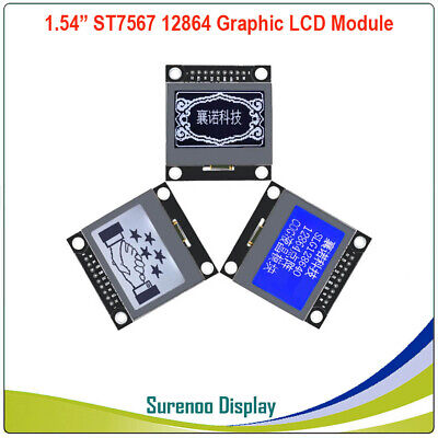 1.54 128x64 12864 St7567 Cog Serial Spi Matrix Graphic Lcd Module Display Panel