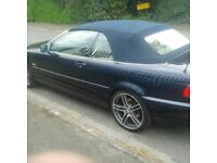 blue bmw convertible