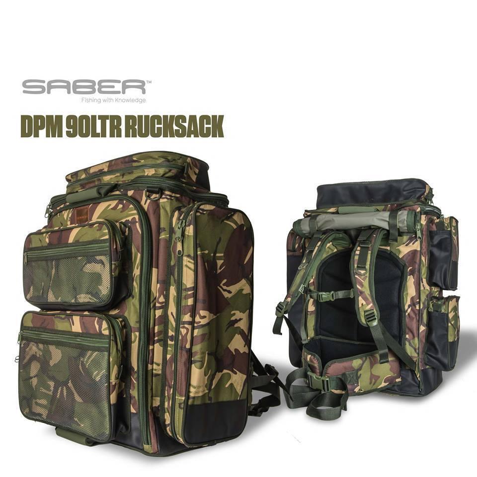 Saber Fishing Tackle DPM Camo 90 Lt Rucksack  / Bag Carp Luggage