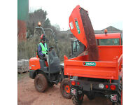 mini digger hire 1 tonne hi tip dumper truck skip loader with cpcs driver for hire