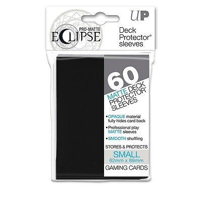 PRO-Matte Eclipse Black Small Deck Protector Card sleeves 60ct Yugioh #85386