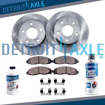 Front Disc Brake Rotors + Ceramic Brake Pads Honda CR-V Element Civic & Accord