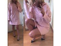 NEW Kadi pearl oversized jumper - pink