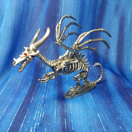 Skeletal Dragon Skeleton Pewter Figurine Rawcliffe US Made Julie Guthrie *NEW*