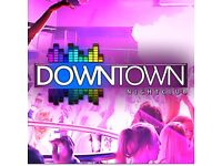 Downtown Nightclub are looking for SIA Badged Door Supervisors