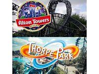 Thorpe park/Alton towers CHEAP TICKETS.