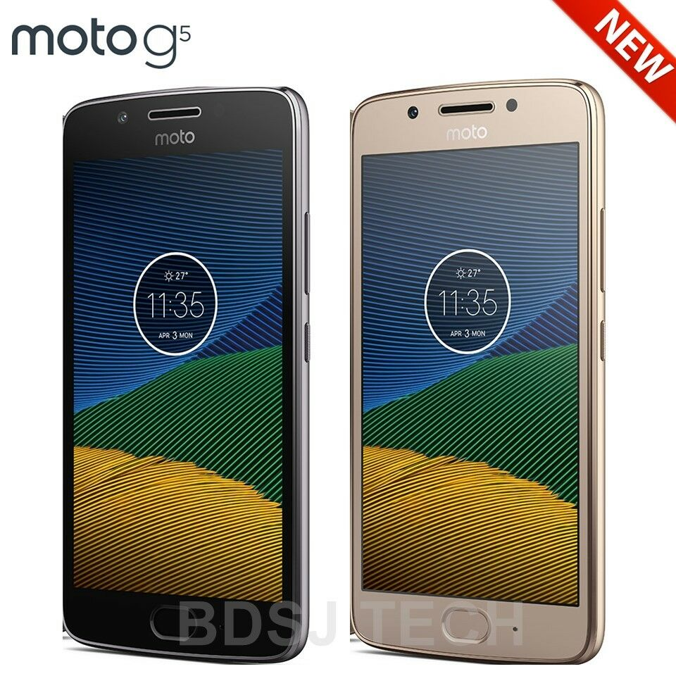$184.99 - Moto G5 (32GB) US 4G LTE Android 7.0 Octa-Core DUAL SIM GSM Unlocked XT1671 NEW