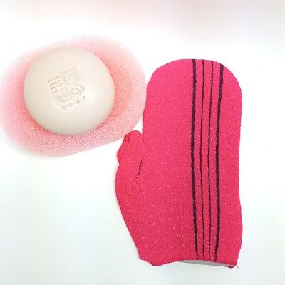 Self Body Back Scrub Italy Towel Wash Bath Brush included 2pcs refill towel