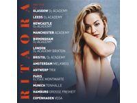 1 x Rita Ora Ticket ( Glasgow 02 Academy 11/5/18)