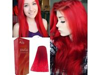 2X BERINA #A23 RED COLOR PERMANENT HAIR DRY CREAM FASHION UNISEX