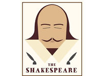 Full time bar staff required at the Shakespeare in Totterdown