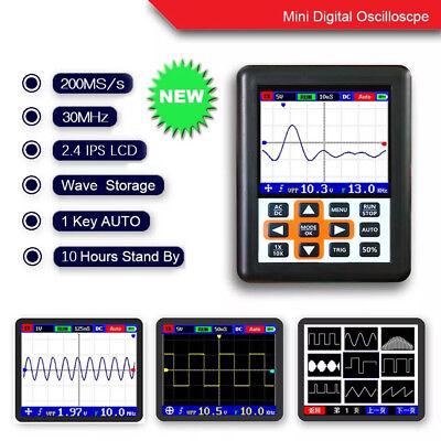Dso Handheld Mini Digital Oscilloscope 30m Bandwidth 200msps Ips 2.4 Lcd Display
