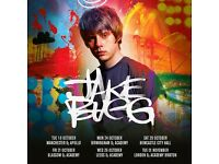 **FACE VALUE** 4x Jake Bugg standing tickets, Manchester Apollo, Tuesday 18th October