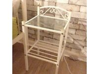 Set of 2 Beside Tables / Nightstands - Cute, Shabby Chic