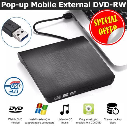 External DVD CD Writer USB 3.0 Slim Drive Reader Player Optical Drives Laptop PC