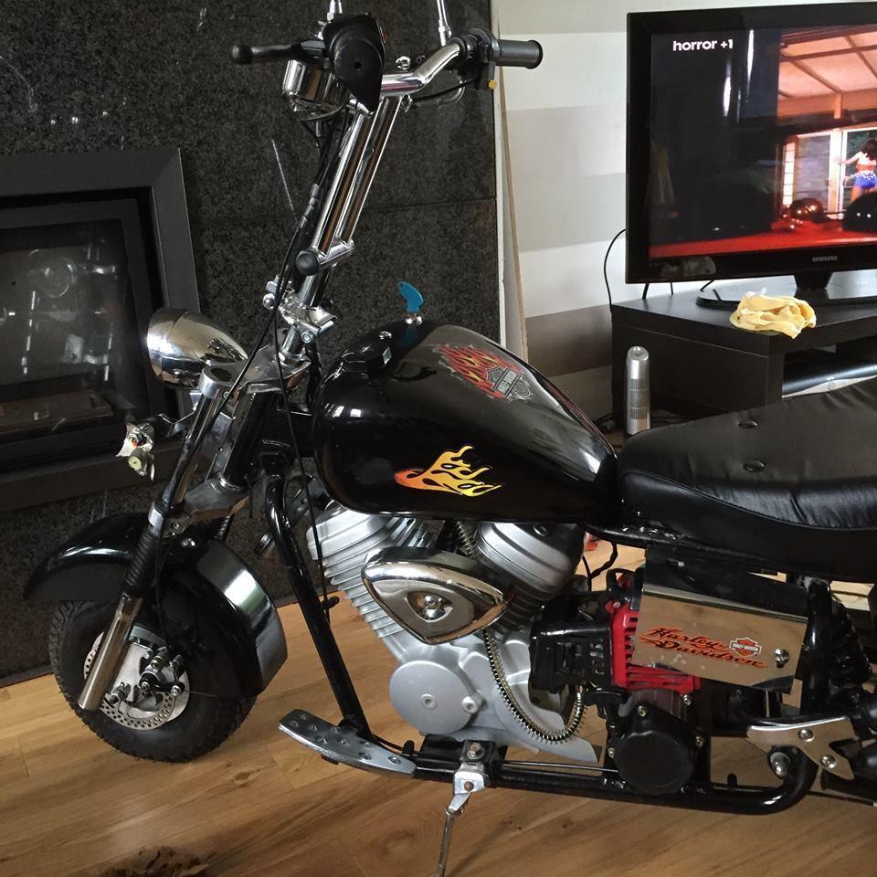 harley davidson pocket bike mini chopper 50cc in east. Black Bedroom Furniture Sets. Home Design Ideas