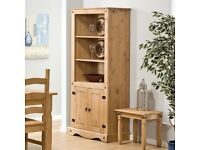 Mexican pine bookcase/cupboard