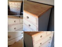 Pine dresser drawers unit storage shabby chic