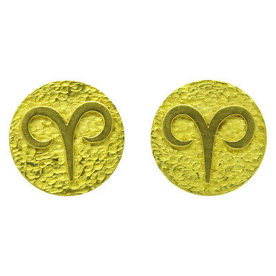 Tiffany & Co. Gold Aries Zodiac Sign Large Cufflinks