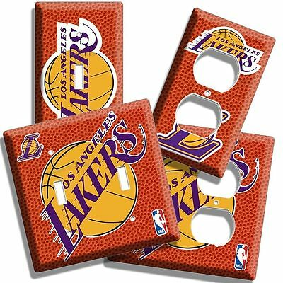 LOS ANGELES LAKERS NBA BASKETBALL LOGO CHAMPION LIGHT SWITCH OUTLET COVER PLATE - Champion Outlet