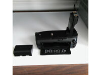 Third Party Battery Grip and 1 x Genuine Canon battery