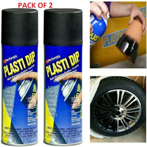 2 Pack Plasti Dip Rubber Coating Spray Paint Matt Black Diy Car Wheels Rims Cans