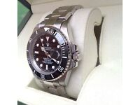 New Boxed black dial and silver bracelet Rolex submariner Comes Rolex Bagged and Boxed With paper