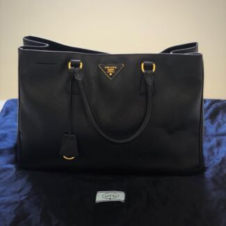 bcbf36c7487d ... shop prada galleria tote bag black 5689a 055e0