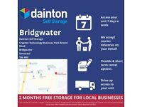 Dainton Self Storage Bridgwater For All Domestic & Commercial Customers