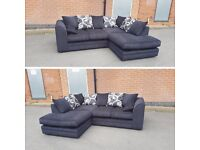{ SAME & NEXT DAY DELIVERY } BARCELONA CHENOILLE FABRIC CORNER SOFA OR 3+2 SOFA SET AVAILABLE NOW