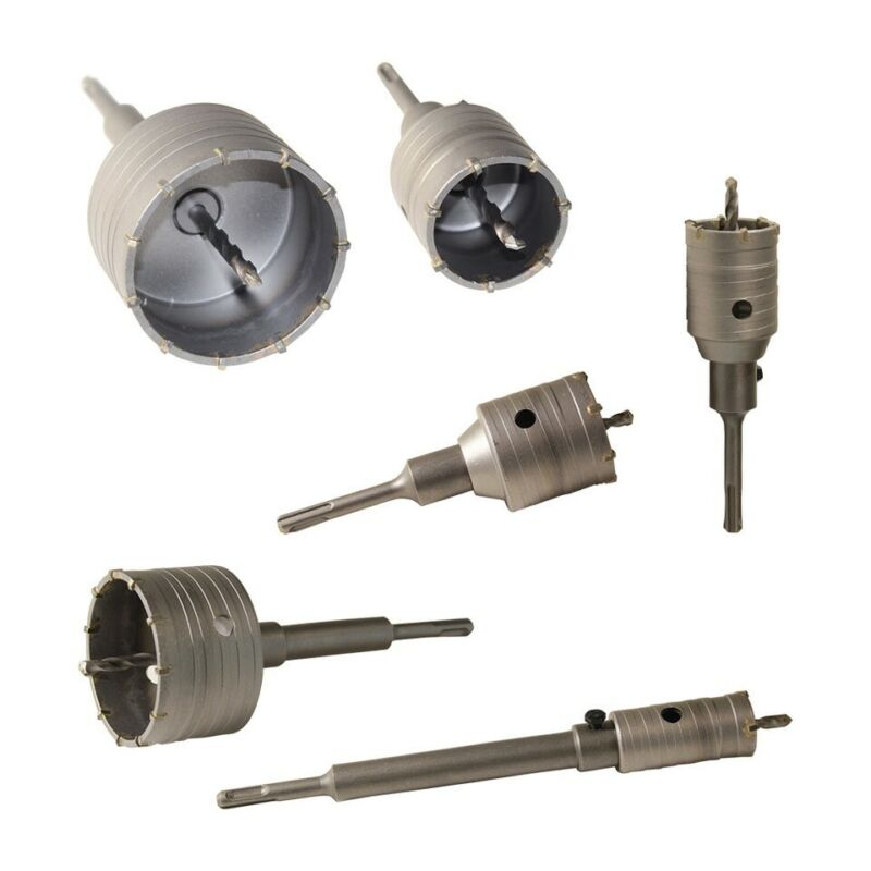 Bohrkrone SDS Plus Ø 30-160 mm komplett für Bohrhammer Dosenbohrer Kernbohrer