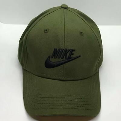 Nike Baseball Cap Green Khaki Black  Adjustable One Size Unisex Adults ON SALE
