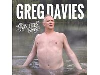 Tickets for GREG DAVIES @ Newcastle City Hall 13/10/2017 'You Magnificent Beast!'