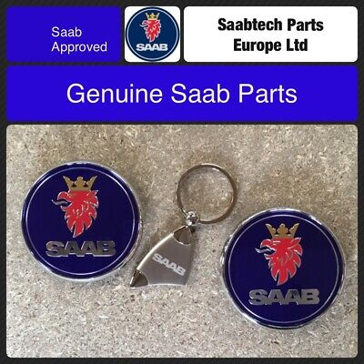 GENUINE SAAB 9-3 SALOON 2003 -07 FRONT AND REAR EMBLEMS 12844161/12769690
