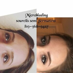 Maquillage semi permanent spécial 200$Microblading